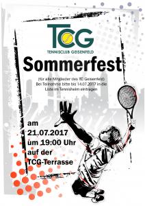 Sommerfest Erwachsene @ TCG Terrasse | Geisenfeld | Bayern | Deutschland