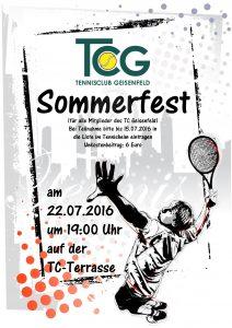 Sommerfest (für alle Mitglieder des TC Geisenfeld)