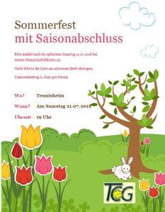 Sommerfest Erwachsene @ Tennisheim Geisenfeld | Geisenfeld | Bayern | Deutschland